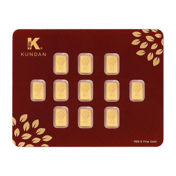 11x1g Gold Bar 24kt (999.9)  - Kalpataru Tree