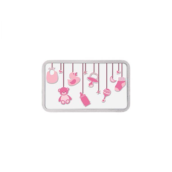 20g Colour Silver Bar (999.9)- Baby Girl
