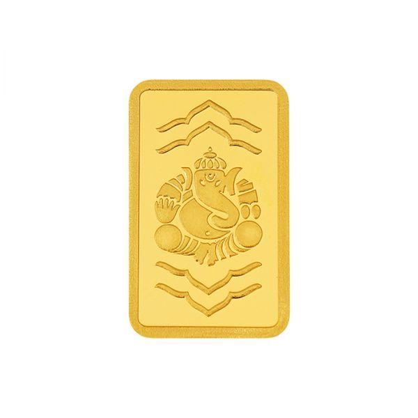 1g Gold Bar 24kt (999.9) - Ganesha