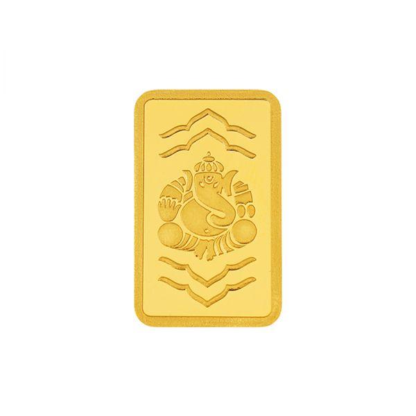 5g Gold Bar 24kt (999.9) - Ganesha
