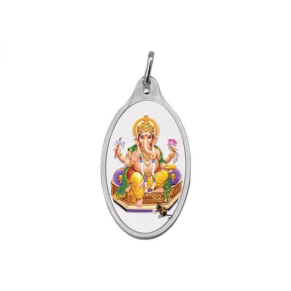 10.11g Silver Colour Pendant (999.9) - Ganesha