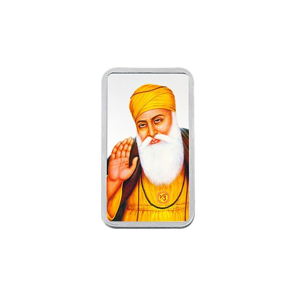 20g Silver Colour Bar (999.9) - Gurunanak Dev