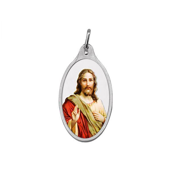 10.11g Silver Colour Pendant (999.9) - Jesus