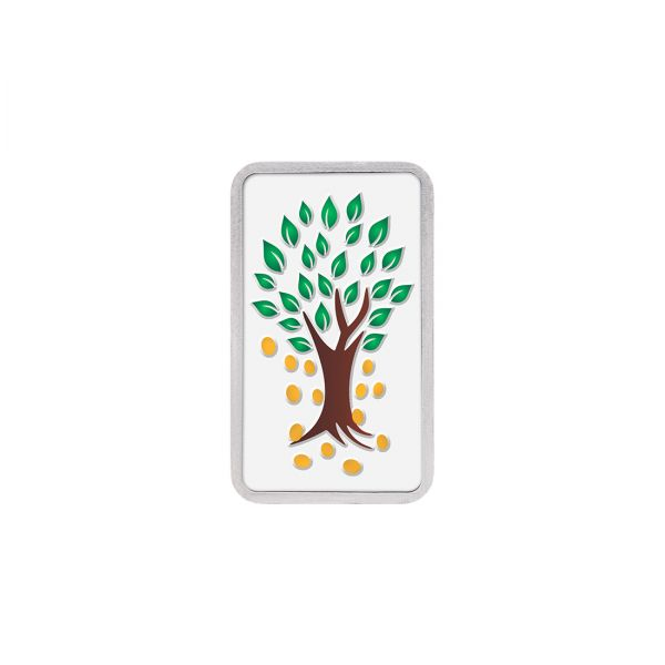 10g Silver Colour Bar (999.9) - Kalpataru Tree