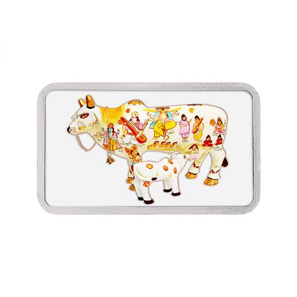 50g Silver Colour Bar (999.9) - Kamdhenu Cow