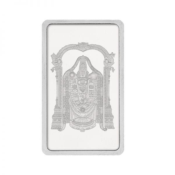 100g Silver Bar (999.9) - Tirupati Balaji