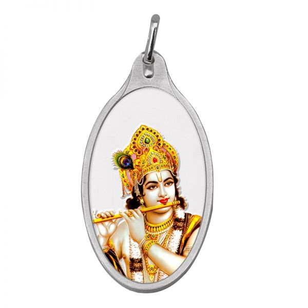 10.11g Silver Colour Pendant (999.9) - Krishna
