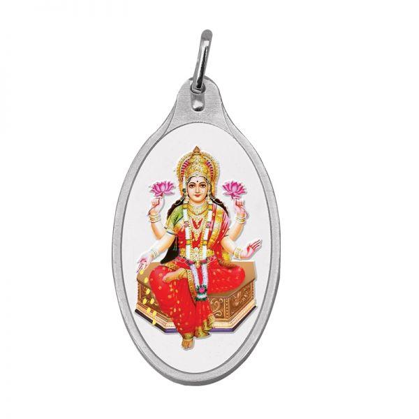 10.11g Silver Colour Pendant (999.9) - Lakshmi Ji