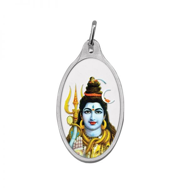 5.11g Silver Colour Pendant (999.9) - Shiv Ji