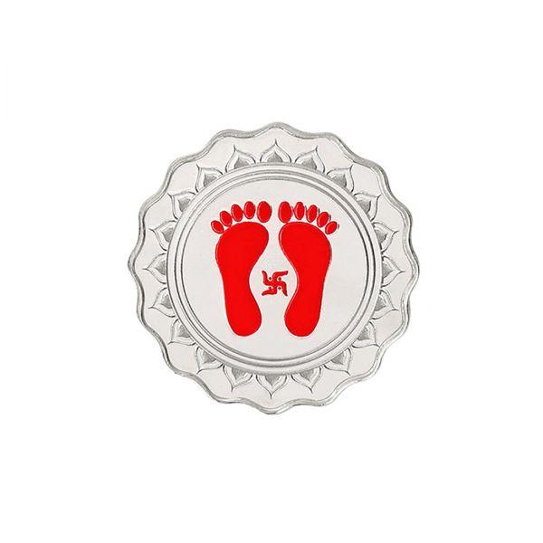10g Silver Colour Coin (999.9) - Lakshmi Feet