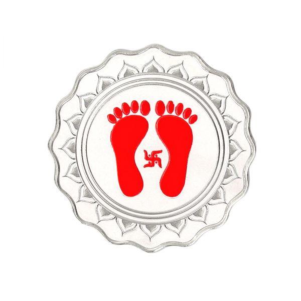 20g Silver Colour Coin (999.9) - Lakshmi Feet