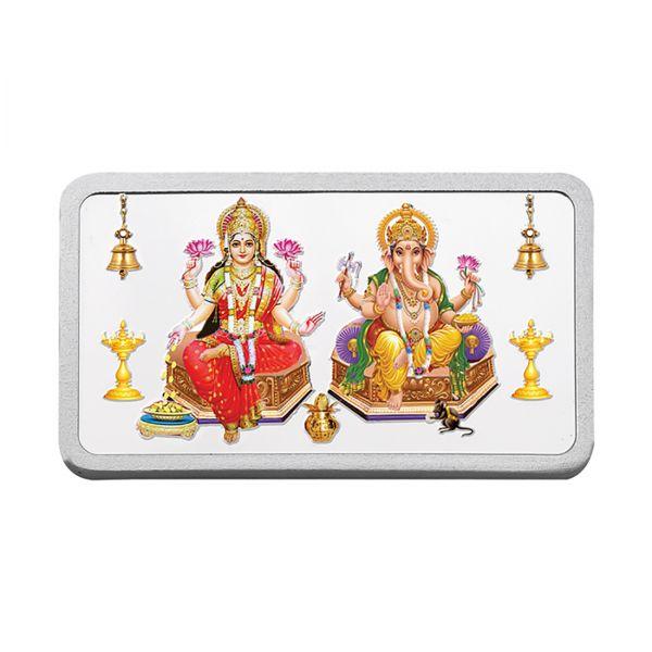 100g Silver Colour Bar (999.9) - Lakshmi Ganesh