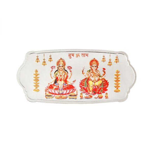 50g Silver Colour Bar (999.9) - Lakshmi Ganesh Stylized