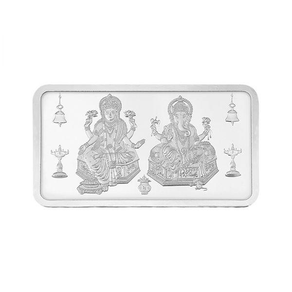 50g Silver Bar (999.9) - Lakshmi Ganesha