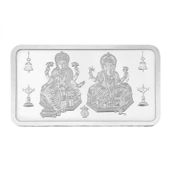 100g Silver Bar (999.9) - Lakshmi Ganesha
