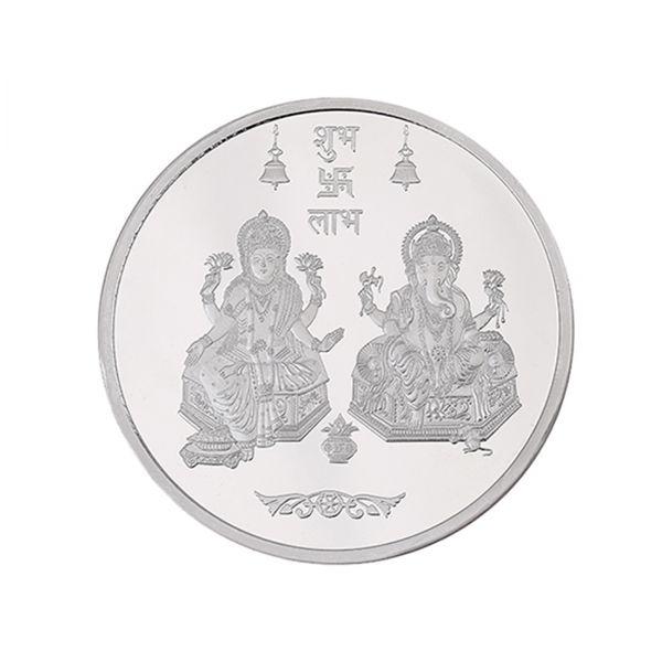 100g Silver Coin (999.9) - Lakshmi Ganesh