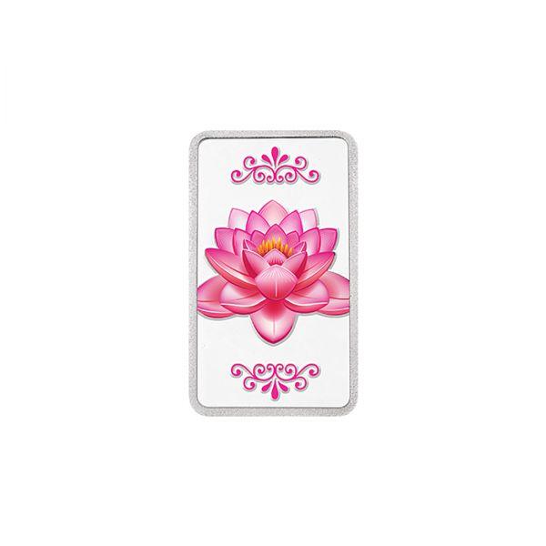 20g Silver Colour Bar (999.9) - Lotus