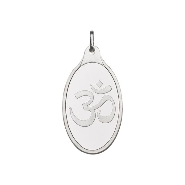 10.11g Silver Pendant (999.9) - Om