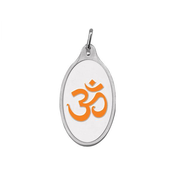 5.11g Silver Colour Pendant (999.9) - Om