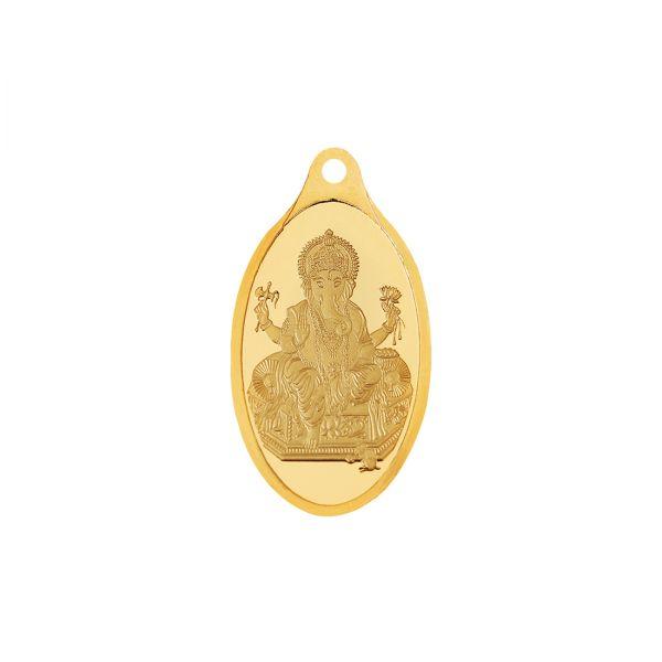 2.5g Gold Pendant 24kt (999.9)  - Ganesha