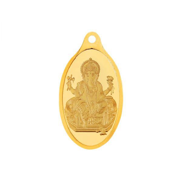 2g Gold Pendant 24kt (999.9)  - Ganesha