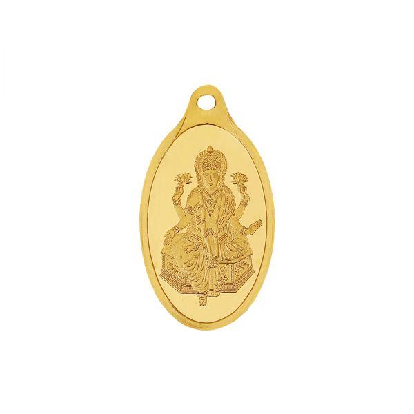 2.5g Gold Pendant 24kt (999.9)  - Lakshmi