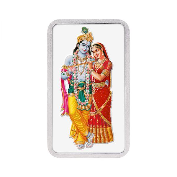 100g Silver Colour Bar (999.9) - Radha Krishna