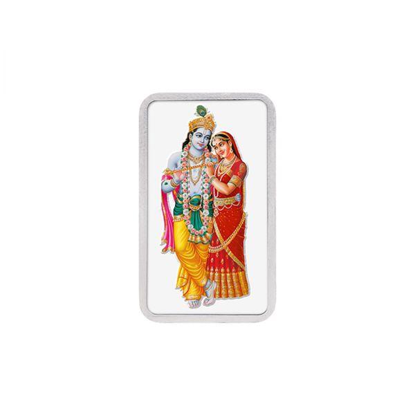 20g Silver Colour Bar (999.9) - Radha Krishna