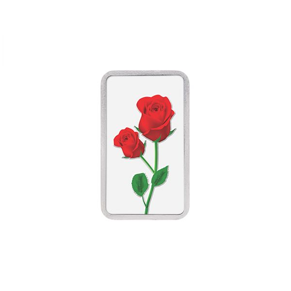 20g Silver Colour Bar (999.9) - Rose
