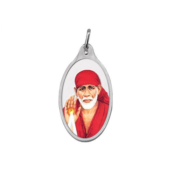 5.11g Silver Colour Pendant (999.9) - Sai Baba