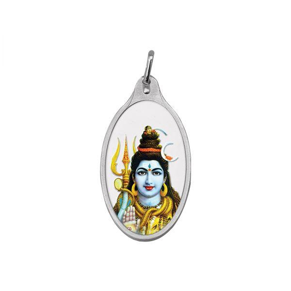10.11g Silver Colour Pendant (999.9) - Shiv Ji