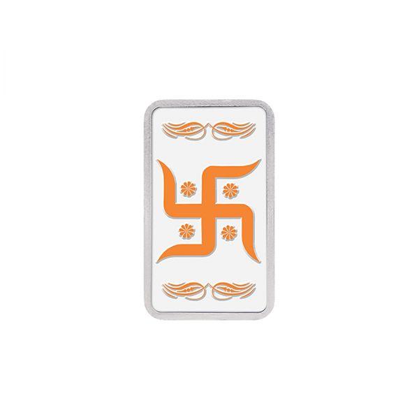 20g Silver Colour Bar (999.9) - Swastik