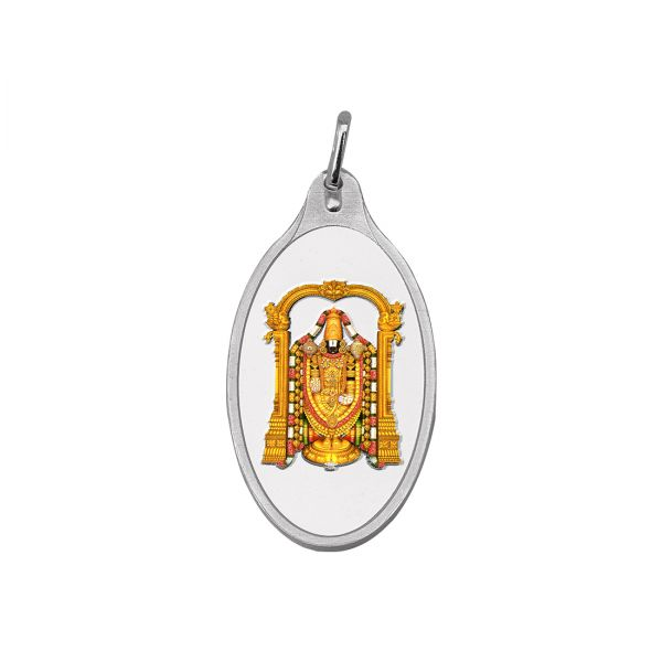10.11g Silver Colour Pendant (999.9) - Tirupati Balaji