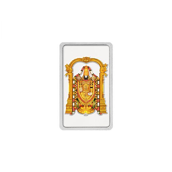 20g Silver Colour Bar (999.9) - Tirupati Balaji