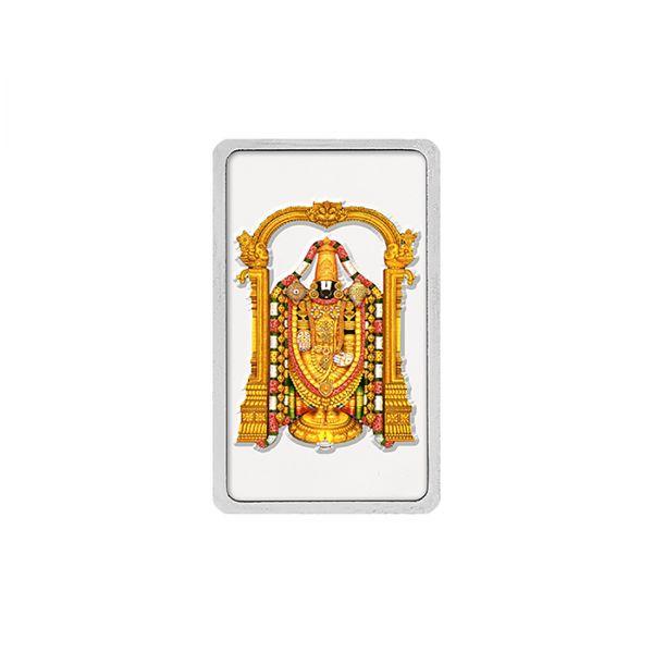 50g Silver Colour Bar (999.9) - Tirupati Balaji