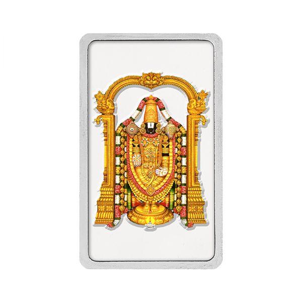 100g Silver Colour Bar (999.9) - Tirupati Balaji