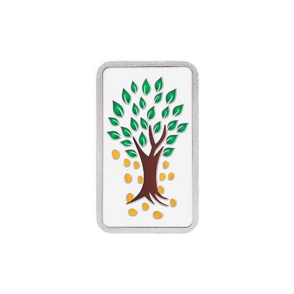 50g Silver Colour Bar (999.9) - Kalpataru Tree