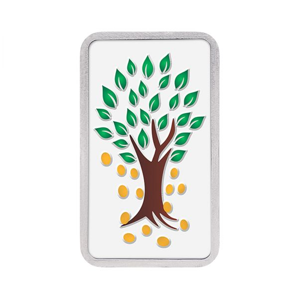 100g Silver Colour Bar (999.9) - Kalpataru Tree
