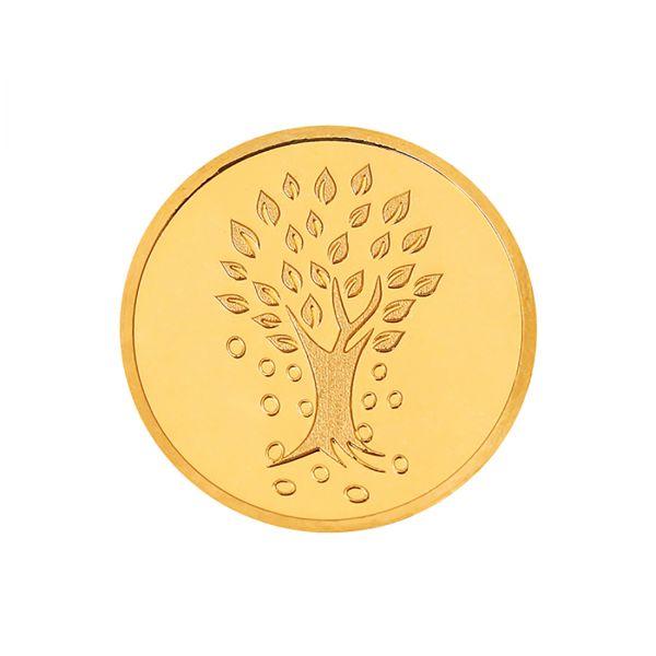 4g Gold Coin 22kt (916)  - Kalpataru Tree