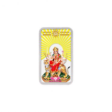 20g Silver Colour Bar (999.9) - Durga Mata