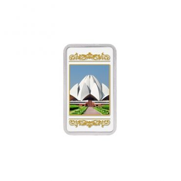 20g Silver Colour Bar (999.9) - Lotus Temple