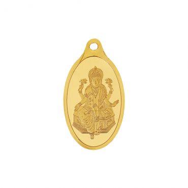5g Gold Pendant 24kt (999.9)  - Lakshmi Ji