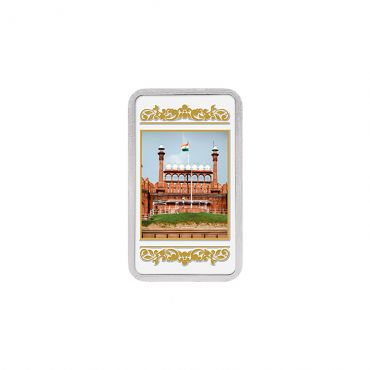 20g Silver Colour Bar (999.9) - Red Fort