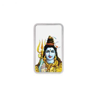 20g Silver Colour Bar (999.9) - Shiv Ji