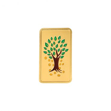 10g Gold Colour Bar 24kt (999.9)  - Kalpataru Tree