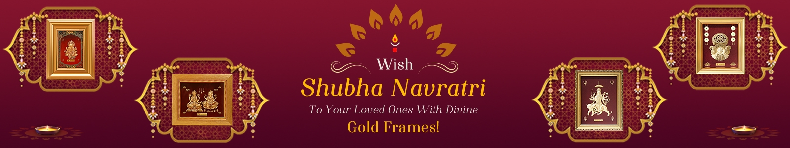 Wish Shubha Navratri To Your Loved Ones With Divine Gold Frames!