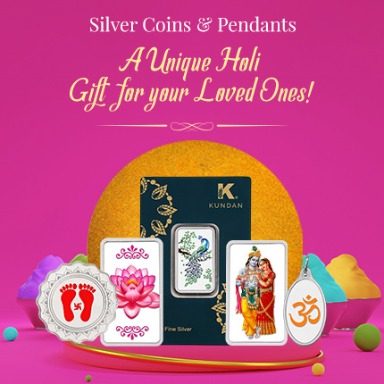 Silver Coins & Pendants- A Unique Holi Gift for your Loved Ones!